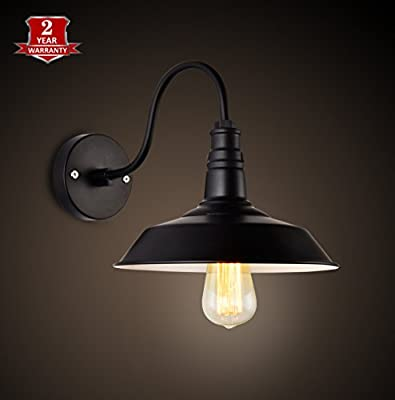 LAVALUX Industrial Wall Sconce Light for Home Living Room Loft