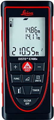Leica DISTO E7400x 265ft Laser Distance Meter, Red/Black