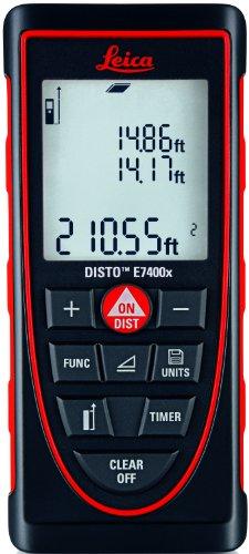 Leica DISTO E7400x 265' Laser Distance Meter, Red/Black