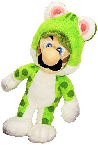 Super Mario Bros 25 cm Official Sanei Mario 3D World Cat Luigi Plush
