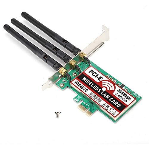 Tarjeta de red inalámbrica DealMux 2.4G / 5G PCI-E 450Mbps Computadora de escritorio Admite AP analógico y tecnología CCA Configuración de seguridad rápida QSS Encriptación WEP