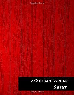 2 Column Ledger Sheet: Columnar Format