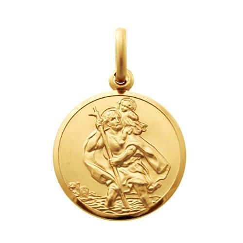 Alexander Castle Médaille de Saint-Christophe en or 9carats