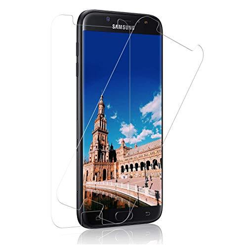 SNUNGPHIR Panzerglas Displayschutzfolie für Samsung Galaxy J7 2017 [3 Stück], 9H Härte Panzerglasfolie, Anti-Kratzer Schutzglas, Bläschenfrei Transparent, Galaxy J7 2017 Panzerglas Schutzfolie