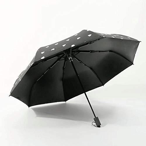 SBSNH Hembra Plegable de Doble Uso Pequeño Sol Creativo Anti-Ultravioleta Cambio de Agua Color, Manual hree Fold Umbrella