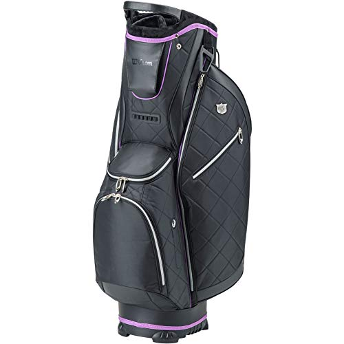 WILSON Damen WS Lady CART Bag BLBLPU Golftaschen, Black, One Size