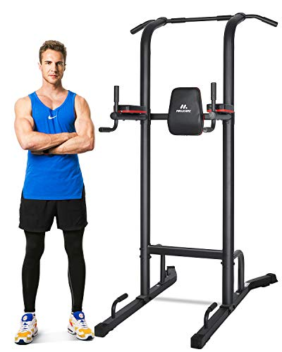 MaxKare Power Tower Workout Dip Stand Pull Up Bar Station Capacity 420 Lbs Professional Strength Training Fitness Equipment Durable & Stable for Home Gym