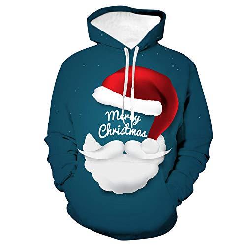 Hoodies Kerstmis Hoed 3D Digitale Print Unisex Pullover Pocket Trekkoord Hoodies Sweater Losse Jas Hoodie