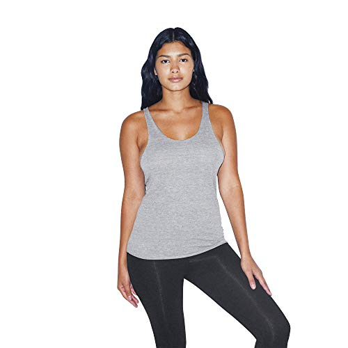 American Apparel Women's Tri-Blend Sleeveless Racerback Tank, Athletic Grey, Small