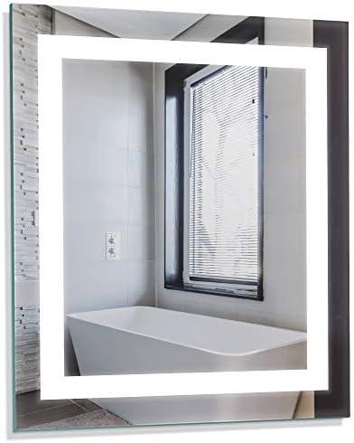 Homewerks 100150 24 x30 LED Bathroom Mirror Anti Fog Wall Mounted Horizontal or Vertical Vanity product image