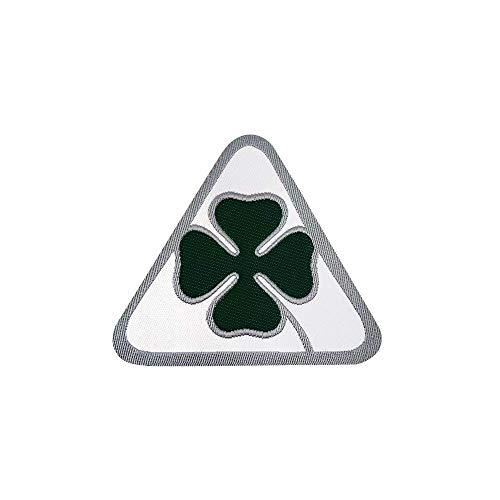 Alfa Romeo 21826 Patch Aufkleber offizielle grüner vierblättriger Kleeblatt, 50 mm