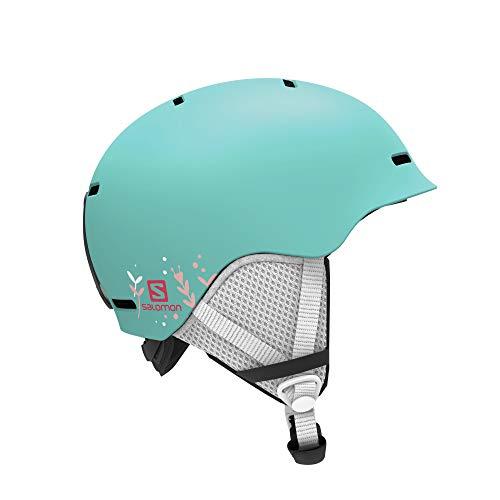 Salomon Kinder Ski- und Snowboardhelm, In-Mold-Schale + EPS-Innenschale, Größe M, Kopfumfang 53-56 cm, Grom, türkis, L40836600