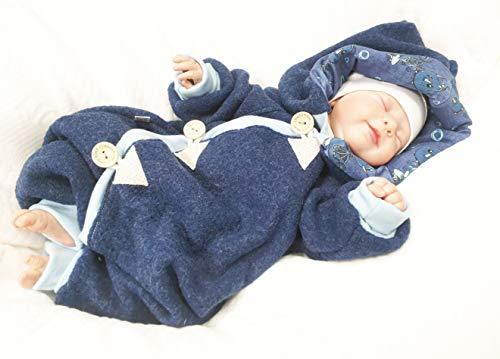 Atelier MiaMia - Walkoverall Baby Kind von 50-104 Designer Baby Overall Limitiert !! Blau (98) - 5