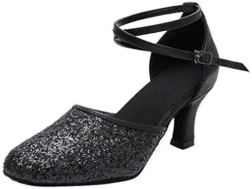 SWDZM Zapatillas de Baile Para Mujer/Zapatillas de Baile Latino Estándar Salón de Baile Modelo 38EU