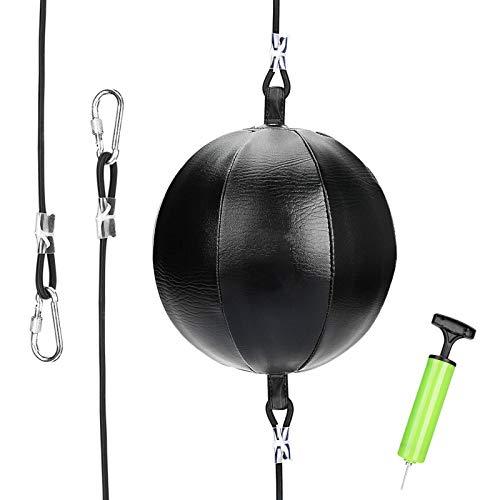 Doppelte Endgeschwindigkeitsbeutel, Praktische Geschwindigkeitsausrüstung Doppelt Ende Boxengeschwindigkeit Ball Punch Bag, Mit Pumpe Und Haken PU-Leder-Gymness-Schlagsack-Training Fitness-Sportarten