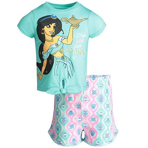 Disney Aladdin Princess Jasmine Toddler Girls' T-Shirt & Shorts Clothing Set (2T) Blue