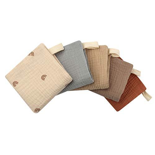 bluce 5 pañuelos pequeños, toallas pequeñas, pañuelos para bebés, pañuelos faciales y muselina