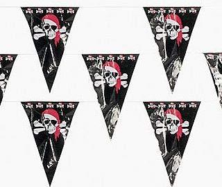 33m (100') de polietileno partido pirata banderines–uso en interiores y al aire libre