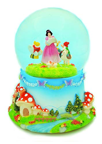 Musicbox World Blanche Neige et Les Nains Polystone Multicolore 120 mm