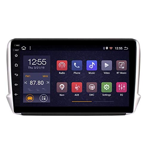 MMFXUE Octa 8 Core 10.1 Pollici Android 8.1 2 + 32G Multimedia GPS per Auto per Peugeot 2008 208 Serie 2015 2016 2017 2018 Car Navigation, Controllo del Volante