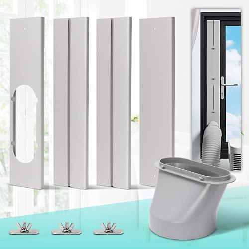 KLOLKUTTA Kit de ventilación de ventana de aire acondicionado con acoplador de juntas ajustables para aire acondicionado, kit de...