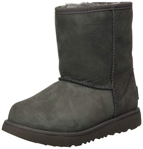 UGG K Classic Weather Short Boot, Grey, Size 13