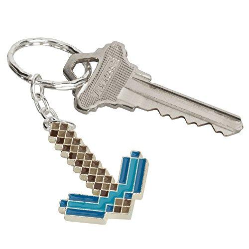 JINX Minecraft Diamond Pickaxe Metal Key Chain (Metallic with Enamel Fill, One Size) Photo #2