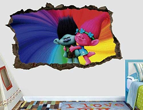 Tbagem-Yjr 3D wandaufkleber, wandsticker kinderzimmer Jungen Troll AST Wandtattoo Benutzerdefinierte Smash 3D Kinder Aufkleber Vinyl-Aufkleber fototapete 3D Effekt