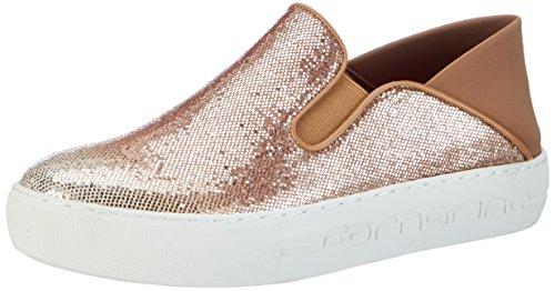 Fornarina Damen Yuma Sneaker, Braun (Champagne), 37 EU