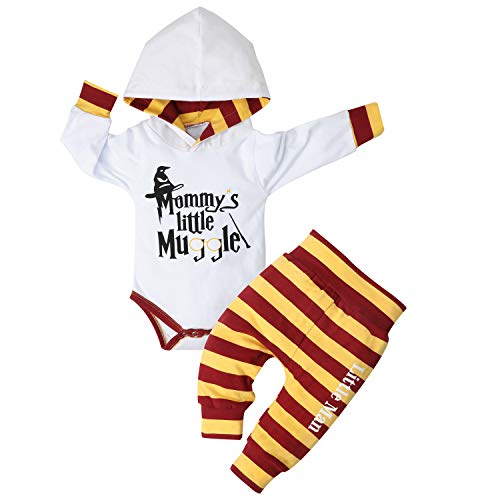 Newborn Baby Boy Clothes Letter Print Hoodies+Little Man Long Pants 2PCS Outfits Set 3-6 Months