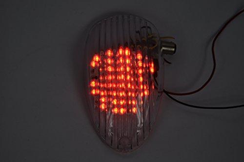 Lente transparente motocicleta LED Faros traseros para luz trasera de freno con integrado Turn Signal Lamp Indicadores para Kawasaki Mean Streak, Vulcan 900Classic, Vulcan 900Lt, Vulcan 900Custom