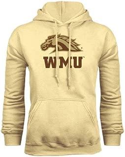 CollegeFanGear Western Michigan Champion Vegas Gold Fleece Hoodie 'WMU w/Bronco Head'