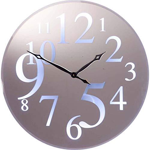 Kare Reloj de Pared Wonderland Led, Plata, 90 x 4 x 90 cm
