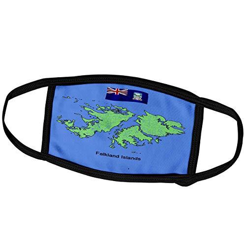 Promini Monatsmaske – Bilder Flaggen und Karten – Südamerika – Karte und Flagge der Falkland-Inseln – Staubmaske Outdoor-Schutzmaske
