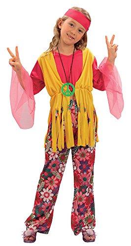 Bristol Novelty  Traje Niña Hippie (L) Edad aprox 7-9 años