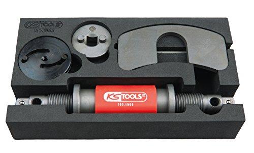 KS Tools 150.1965 Universal Druck- und Dreh-Vorrichtungs-Satz, 4-tlg.