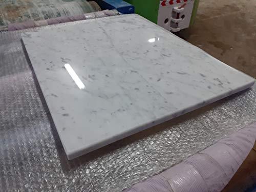 Generico Tagliere in Marmo Bianco,Base per stemperare Il Cioccolato 60x48x2,spianatoia per Cucina,Vassoio Taglia Verdure