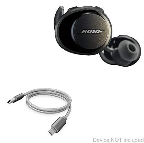 Bose SoundSport Free Cable, BoxWave [Micro USB DuraCable] Cabo de carregamento Micro USB trançado para Bose SoundSport Free – Cinza espacial