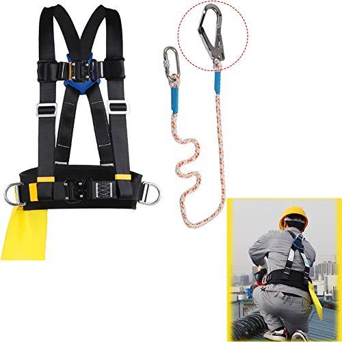 MAHFEI Safety Absturzsicherung, Halber Körper Klettergurt Sicherheitsgurt Auffanggurt Klettergurt 3-Punkt-Einstellung Mit Rettungsseil Taillenstützring In Höhen Arbeiten