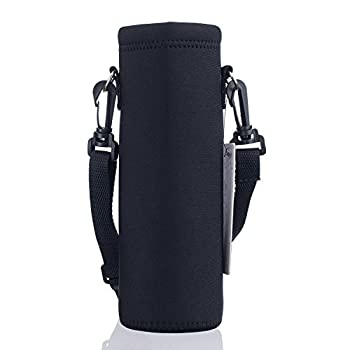 AUPET Water Bottle Carrier,Insulated Neoprene Water bottle Holder Bag Case Pouch Cover 1000ML or 750ML,Adjustable Shoulder Strap Great for Stainless Steel and Plastic Bottles