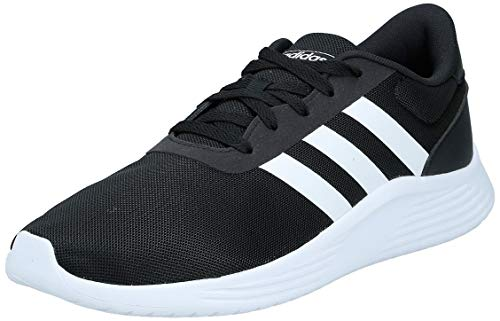 adidas Mens Lite Racer 2.0 Sneaker, Core Black/Footwear White/Core Black, 42 2/3 EU