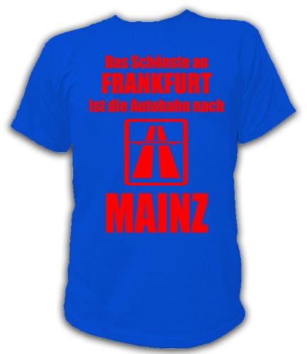 Artdiktat T-Shirt Anti Frankfurt T-Shirt Unisex, Größe S, blau