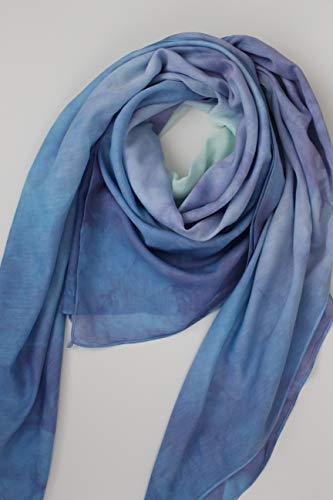 Tuch Schal Blush Türkis Aqua Violett Pastellgrün