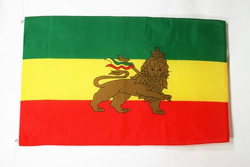 AZ FLAG Flagge ÄTHIOPIEN MIT LÖWEN 90x60cm - ÄTHIOPIEN Fahne 60 x 90 cm - flaggen Top Qualität