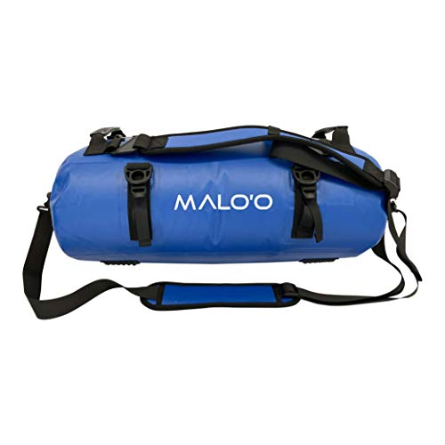 Malo'o DryPack Backpack Duffle Bag (Dark Blue, 40L)