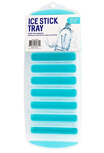 Good Living Dishwasher-Safe Compact Ice Stick to Keep Drinks Chilled, Teal Blue, 1-Tray
