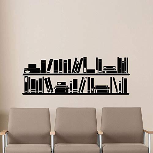 Personalidad pegatinas de pared libros estantería pegatinas de pared sala de lectura sala de estudio pegatinas de pared arte A9 57x161cm
