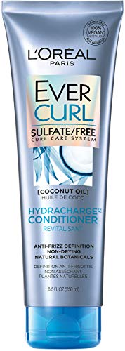 L'Oreal Paris EverCurl Hydracharge Sulfate Free Conditioner, with Coconut Oil, 8.5 Fl; Oz (Packaging May Vary)