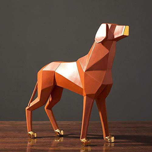 YXYSHX Esculturas coleccionables Decorativas para el hogar, Perro de Origami, Sala de Estar, Armario de TV, decoración del hogar, Adornos de Resina