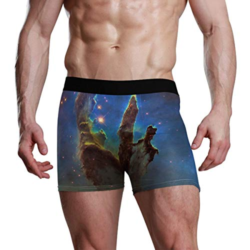 Mens Boxer Briefs The Creation Pillar of Constellation Serpens in Eagle Nebula Low Rise Trunks Bikini